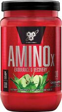 BSN Amino X Muscle Recovery & Endurance Powder, Green Apple, 30 Servings
