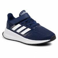 Scarpe Bambini Ragazzi Adidas Runfalcon Blu a Strappo Leggera Scuola Asilo