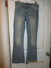 LUCKY BRAND SIZE 26 S NWOT FLARE LEG CANDIANA DENIM FABRIC FADED LOOK NEW