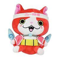 Yokai Watch DX Kuttari stuffed toy's Nyan Jibanyan meow KBVer. F/S