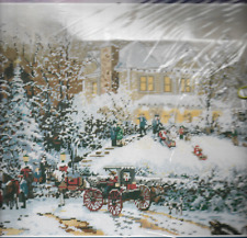 Thomas KinKade Victorian Christmas II, Floss Needlepoint Kit,30858,1995 Sealed