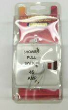 Shower ceiling pull cord switch 45 amp double pole neon electric 1 Way