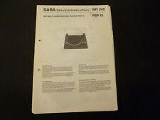 Original Service Manual Saba PSP 15