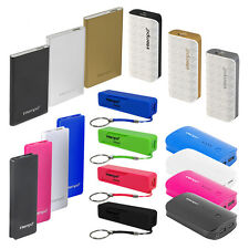 PORTABLE CHARGER USB POWER BANK - 1800/ 2600/ 4000/ 6000/ 8000mAh - MANY COLOURS