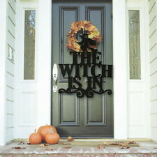 Halloween Sign DIY The Witch Is In Non-Woven Magic Party Hanging Door Wall Decor