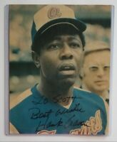 Hank Aaron Vintage Signed 8X10 Magazine Photo Braves Personalized AUTO Inscribed