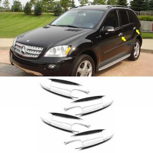 Chrome Door Handle Bowls Fit 2006 2007 08 09 10 2011 Mercedes Benz ML-CLASS W164