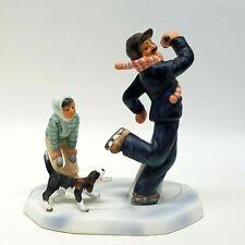 Gorham, Norman Rockwell, Fine Bone China Miniature Figurines Gay Blades - Nrm3