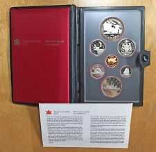 1981 7-coin Double Dollar Proof Set CANADA w/ Locomotive Silver $1