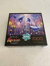 Buffalo Games Marine Color The Angelus Ii Dolphins 1000 Piece Jigsaw Puzzle