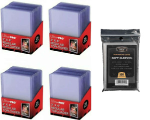 Ultra Pro Standard Top Loaders & CBG Soft Sleeves 25, 50, 100, 200, 500, 1000