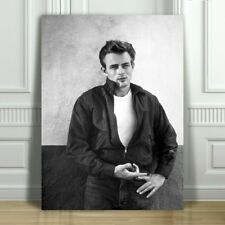 JAMES DEAN - Rebel Without A Cause - B&W - CANVAS ART PRINT POSTER - 18x12""