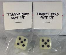 2 Single Packs of Glow In the Dark Game Die/Dice, 6 sided, 1 thru 6 dots
