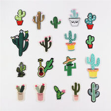 18pc Cactus Set DIY Embroidered Iron on Patch Applique for Clothes Decoration