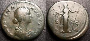 Faustine Young - Sestertius - Laetitia - 161-175 Victori, Rome - Rrs #5279