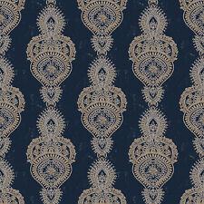g67387 - INDO chic à motif bleu or blanc Galerie Papier peint