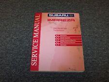 2003 Subaru Impreza Shop Service Repair Manual Section 4 Transmission RS TS 2.5L