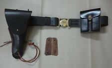 US WWII M1916 .45cal 1911 Pistol Leather Holster, Belt, Ammo Pouch Set w/ Grips