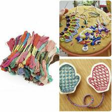 200pcs Mix Colores Punto de Cruz Algodón Costura Madejas Hilo Bordado Juegos