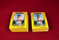 Lot of 100 1980-87 SSPC HOF Baseball Immortals Luis Aparicio Card # 186 1st RG1