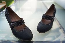 JANET D. Damen Sommer Schuhe Keil Sandalen Pumps Keilsandalen Gr.38 Leder TOP #i