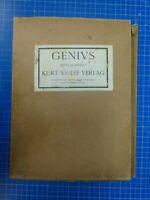 Genius Erstes Buch Kurt Wolff Verlag Mappe komplett guter Zustand Y8-62