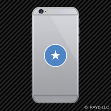 Round Somali Flag Cell Phone Sticker Mobile Somalia SOM SO