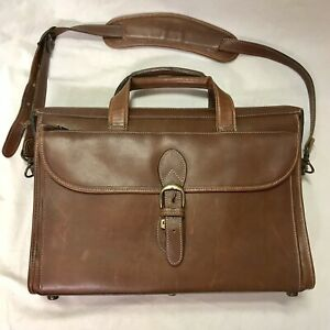 Korchmar Executive Leather Laptop Friendly Briefcase Brown #1038 096  NWOT