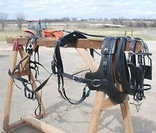 USA Made Beta Sport Harness +Euro Brollar Collar CROSSBREDSMALL DRAFT HORSE SIZE