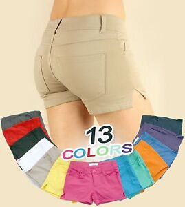 Sexy Women Color Colored Casual Skinny Stretchy Jeans Soft Leggings Short SHORTS