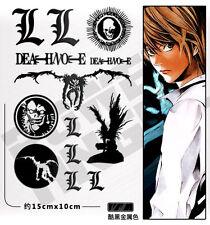 1Set Death Note Lyuuku Anime Metal Vinyl Decal For Phone Laptop Cars PSP Sticker