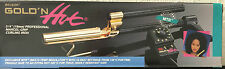 """BELSON GOLD 'N HOT 3/4"""" PROFESSIONAL MARCEL-GRIP CURLING IRON-24K GOLD PLATED"""