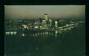 Postcard Nighttime View at Point State Park Pittsburgh Pennsylvania. F-2