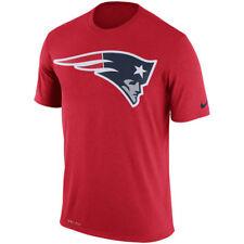 Men's New England Patriots NFL Red Legend Dri-FIT Logo Essential T-Shirt Small