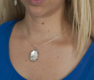 Charming Mother of pearl White Necklace Shablool 925 Sterling Silver Pendant