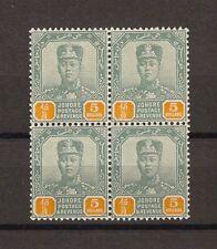MALAYA/JOHORE 1904/10 SG 74 MNH Block Cat £280