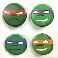 TEENAGE MUTANT NINJA TURTLES Pins Leonardo Raphael Donatello Michelangelo TMNT