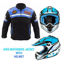 Kids motorcycle motorbike textile motocross jackets helmets children's clothing