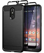 Teayoha Nokia 3V Case Tempered Glass Screen Protector Cover Phone Soft TPU 3 V