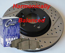 Fits 10-17 Equinox Terrain Drill Slot Brake Rotors Pads Harmonically Balanced