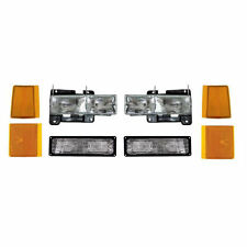 New 8 Piece HeadLight Turn & Corner Light Set Fits 94-02 GMC Sierra 94-99 Yukon