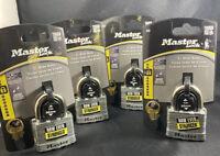 Master Lock No. 5 Hardened Steel 2-inch Wide Padlock P35163 with 2 Keys **NEW**