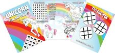 Pack of 12 - Unicorn Fun and Games Activity Sheets - Party Bag Books Fillers