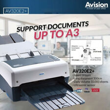 AVISION AV320E2+ 80ppm 160ipm Colour A3 Scanner ID Duplex USB Win10 Mac RRP$3999