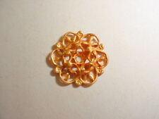 "Raw Brass1/2"" Filigree Jewelry Findings 2 dozen pieces"