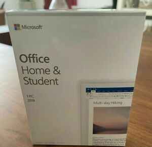 MS Office Home and Student 2019 1 Device Windows 10 PC Only Product Key Card