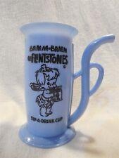 Flintstones Blue Plastic Bamm-Bamm Rubble Sip-A-Drink Cup