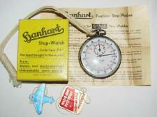 Vintage Hanhart Jubile 75 Stop-Watch Jeweled Stop Watch in Box Germany 381/10