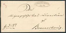 Braunschweig, Altbrief um 1840, Schnallenstempel Holzminden-Braunschweig, Luxus