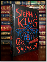 Stephen King Novels The Shining Carrie Salem's Lot Sealed Leather Bound Hardback
